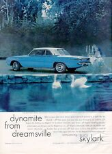 1961 BUICK Skylark Two-Door Aluminum Engine Swans PRINT AD