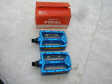 KKT 9/16 BLUE NOS PEDALS BMX RACING FREESTYLE CRUISER VINTAGE BICYCLE