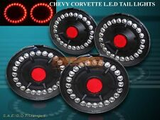 CHEVROLET CORVETTE 05-12 / CORVETTE 06-12 Z06 L.E.D. TAIL LIGHTS EURO BLACK 4PCS