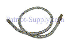 "S220-36 Flexible oil line, braided steel outside covering, 1/4""-NPT (MxM), 36"""