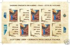 2009 S. MARINO LETTERATURA ITALIANA CONGIUNTA MINIFOGLI