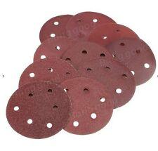 6 inch 6 Hole Hook & Loop Sanding Discs 50/box 40-800 Grit