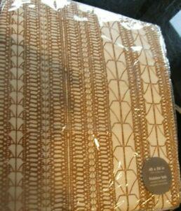 2 West Elm Echo Print gold dust Curtains panels drapes 48 84 New