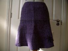 NOMADS PURPLE BLACK COTTON TWEED EFFECT EMBROIDERED MINI SKIRT GOTH LOLITA L