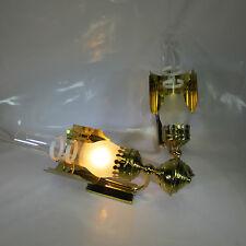 1 von 2 Messing Antik Stil Wandlampe Petroleum Stil Vintage Wandleuchte