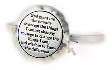 4031541 Serenity Prayer Bracelet Strength Courage Hope AA ALNON 12 Step God G...