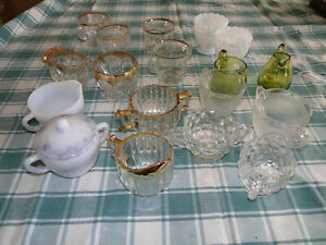 Assorted Sugar & Creamer Sets - Glass / Ceramic / Metal - Different Styles