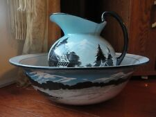 Victorian England Pitcher & Basin Bowl LG Vintage  Antique