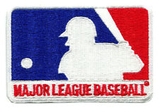 "MLB MAJOR LEAGUE BASEBALL VINTAGE 3.5"" RED WHITE BLUE LEAGUE LOGO PATCH"