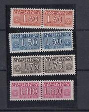 Italia 1955-58 Pacchi in concessione filigrana a stelle  5-8 Mnh