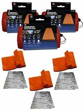 LOT of 3 Heavy Duty Emergency Solar Thermal Sleeping Bag Bivvy Survival Camping