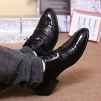 Business Men's Large Casual Fashion Dress Formal Oxfords Leather Shoes Lace Up T