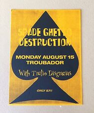 Spade Ghetto Destruction Gig Flyer Los Angeles 1994