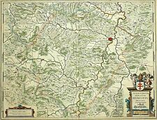 HESSEN - STIFT HERSFELD - Bad Hersfeld - Blaeu - Kupferstichkarte 1635