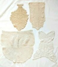 Vintage Chair Back Couch Crocheted Doilies Lot