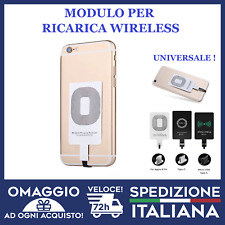 Modulo Ricarica Wireless QI Senza Fili Adattatore Ricevitore IPHONE SAMSUNG 🇮🇹