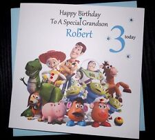 Handmade Personalised Toy Story Birthday Card Son Grandson Nephew 3rd 5th 9th