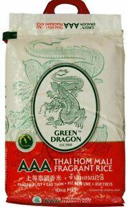 GREEN DRAGON AAA THAI FRAGRANT HOM MALI RICE - 10KG SACK