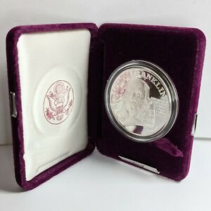 1992-P Benjamin Franklin Fire Fighters Silver Medal Proof 190525B