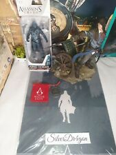 Assassins Creed Unity Arno Statue Figurine+action figure Mcfarlane Coin poster