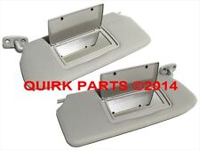 2010-2012 Nissan Sentra | Right & Left Gray Sun Visors Set Of 2 OEM NEW Genuine