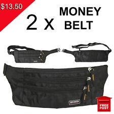 Money Belt Travel Bag Secure Waist Zip