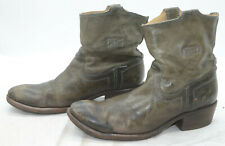 Frye Boots Womens Sz 7.5 Slouch Leather Western Riding Boho Work Ankle Boots