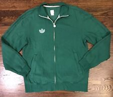 ADIDAS ORIGINALS TRACK JACKET MENS Medium Green TREFOIL RETRO SPORT ZIP UP