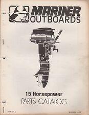 1977 MARINER OUTBOARD 15 HP PARTS MANUAL M-90-83004 (385)