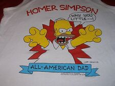 The Simpsons Large White Sleeveless Shirt Homer - Why You Little... Vintage 1990