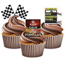 PRECUT Formula 1 Lewis Hamilton 12 Edible Cupcake Toppers Decorations Birthday