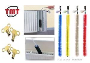 Long Reach Flexible Radiator Heater Heating Bristle Brush Dust Cleaner / Key