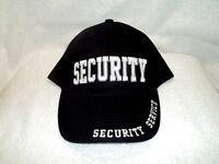 Security Service, Black Cloth, High Quality Ball Cap.