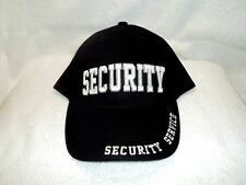 Security Service, Black Cloth, High Quality Ball Cap.