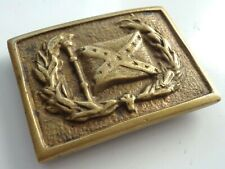 Us Civil War Veteran Confederate Brass Belt Buckle Plate