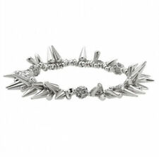 Fashion Silver Renegade Cluster Bracelet Spike Pave Beaded Dot Bracelet