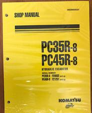 Komatsu Service PC35R-8, PC45R-8 Shop Manual NEW