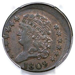 1809 C-3 PCGS XF 45 10% Off Center Classic Head Half Cent Coin 1/2c