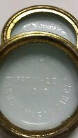 Three Antique White crown Mason jar lids