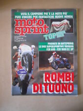 MOTOSPRINT n°45 1988  Test YAMAHA FZR 600 FZR 1000 [MS7]