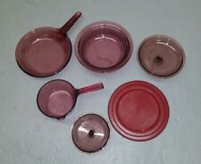 Cranberry Visions Cookware: Corning Pouring pot Pan Skillet Casserole Lid France