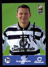 Sergej Mandreko Autogrammkarte Hertha BSC Berlin 1998-99 Original Sign+A 104804