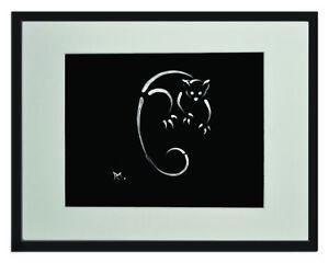 """Ringtail Possum White Matted Print 11""""x14"""", framed or unframed."""