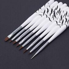 8PCS/Set Nail Art Design Brush Dotting Painting Pen Acrylic Drawing Liner Tools