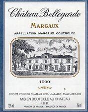 MARGAUX 4E GCC VIEILLE ETIQUETTE CHATEAU BELLEGARDE 1990 75 CL RARE  §28/06/18§