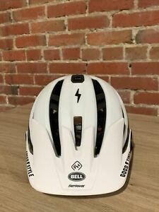 Bell Sixer Fasthouse MIPS Adult MTB Cycling Bike Helmet Stripes Matte White Lrge