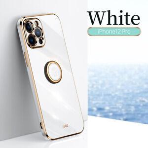 Taschen Für iPhone 12 11 Pro Max XS XR 7 8 Plus Überzug Ring Halter Schutzhüllen
