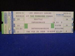 1979-80 Los Angeles Lakers vs Seattle Supersonics Ticket Magic Johnson Rookie Yr