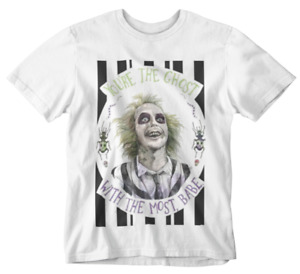 Beetlejuice T-Shirt Ghost with the most babe tee movie retro film 80s 90s