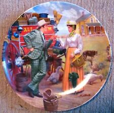 "Oklahoma! Commemorative Plate #3 (1986) - ""I Cain't Say No"" - Kunstler- Nm"